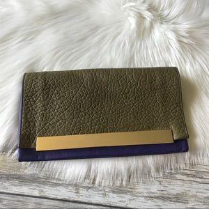 Pour Victoire Leather Clutch Bag